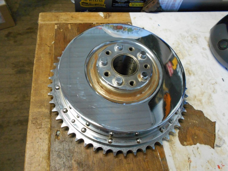 Drag Specialties Harley Davidson Ironhead 67-72 Rear HYD Brake Drum With  Sprocket Chrome